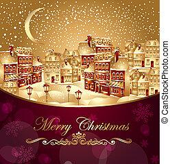 stadt, weihnachten
