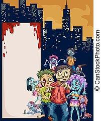 stadt, zombies