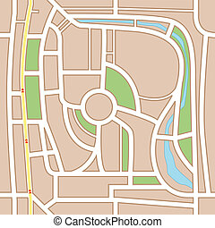 stadtlandkarte, abstrakt, hintergrund