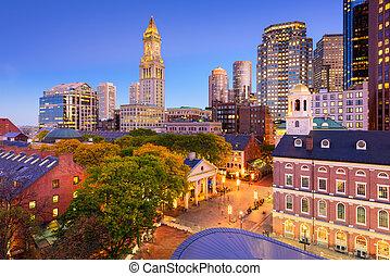 stadtzentrum, boston, cityscape