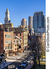 stadtzentrum, boston, cityscape