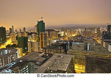 stadtzentrum, hongkong, morgen
