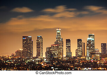 stadtzentrum, los, skyline, angeles