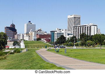 stadtzentrum, memphis, skyline, park
