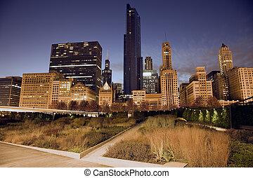 stadtzentrum, prärie, chicago
