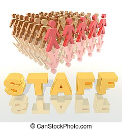 staff - a 3d rendering to illustrate a staff company