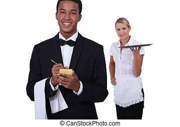 staff in restaurant