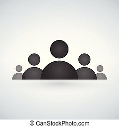 Staff or board of directors icon. Vector illustration isolated on modern background.