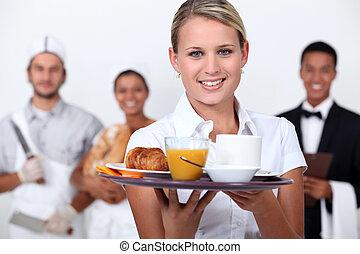 staff., ristorante