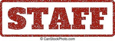 Staff Rubber Stamp