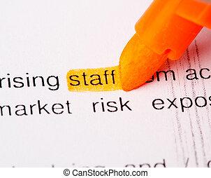 staff word