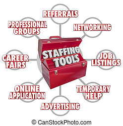 Staffing Tools Toolbox Recruiting New Employees Hiring ...