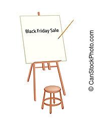 staffli, ord, artist, trä, fredag, försäljning, svart