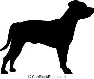 Staffordshire Bull Terrier silhouette