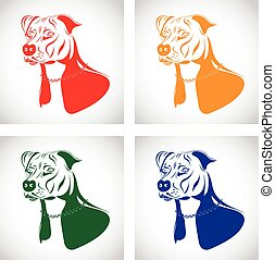 staffordshire terrier dog set