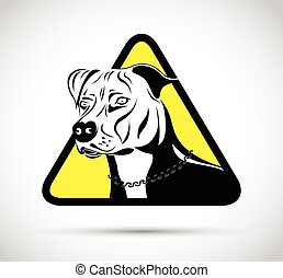 staffordshire terrier dog sign