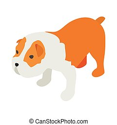 Staffordshire terrier icon, isometric 3d style