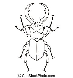 Stag-beetle isolate on white background. Vector image.