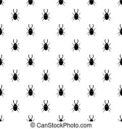 Stag beetle pattern seamless in simple style vector illustration