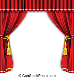 Stage Curtain - illustration of silk stage curtain with...