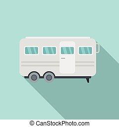 Stage director trailer icon. Flat illustration of stage director trailer vector icon for web design