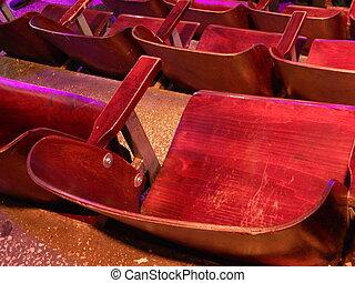Stage equipment in circus interior