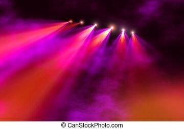 Stage illumination - Colorful Stage spot light illumination...