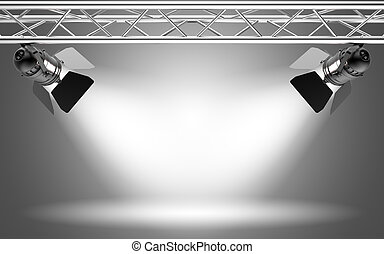 Stage light 3D rendering