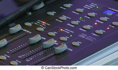 Stage light control panel - Stage lights control panel close...