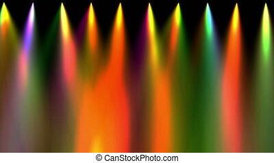 stage light down abstract