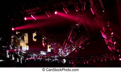 Stage Lighting at ceiling of night club during rock concert