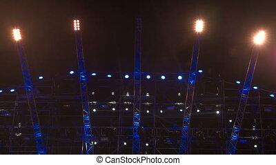 Stage lighting at rock concert