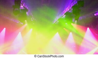 Stage lights at live concert show