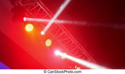Stage lights changing colors