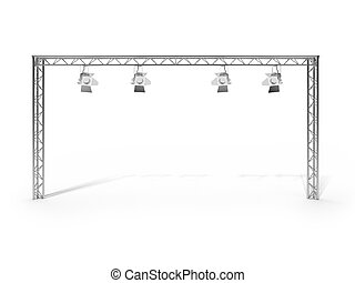 Stage Dive Clipartby Nicemonkey1/230 Stage Lights Isolated On White  Background. 3d Render