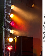 Stage lights on a console - Stage console with different ...