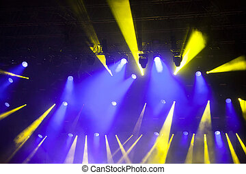Stage lights on concert - Stage lights on electric concert...