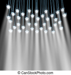 Stage Lights - Stage lights as a group of shinning...