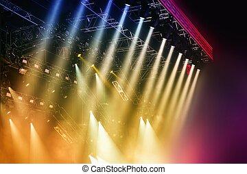Stage lights  - Colorful Stage lights at concert