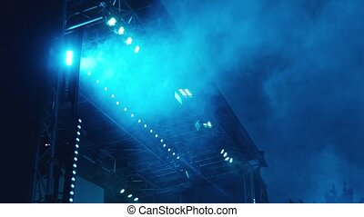 stage lights wide angle