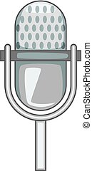 Stage microphone icon monochrome