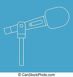 Stage microphone icon, outline style
