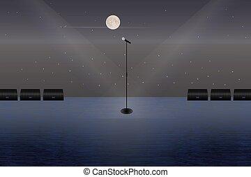 stage., mikrofon