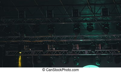 Stage Multi-colored Lighting. Concert Lights. Lighting Effects on Concert Stage