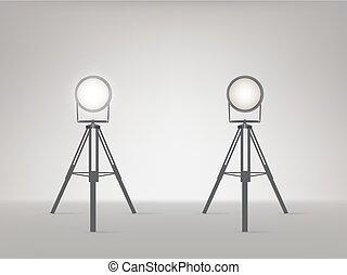 Stage or studio spotlights realistic vector