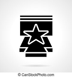 Stage performance glyph style vector icon