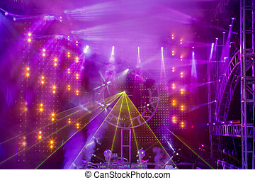 Stage - Performance Space, Lighting Equipment, Disco Ball, Nightclub, Electric Light