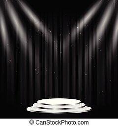 Stage podium scene