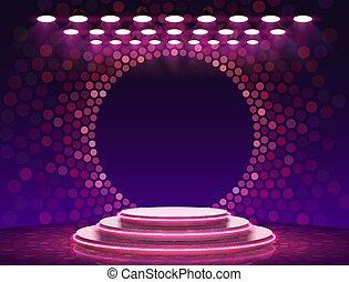 Stage Podium Scene with for Award Ceremony