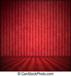stage red background